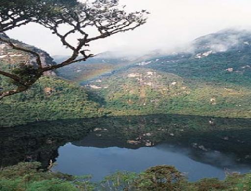 Kuelap condor`s lagoon