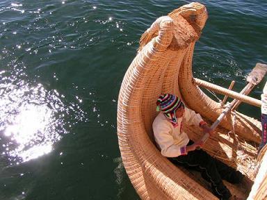 Llachon Islan Titicaca Lake