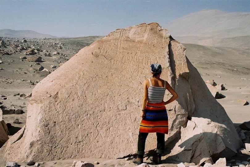 Toro Muerto petroglif