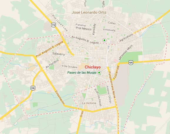 Map of Chiclayo