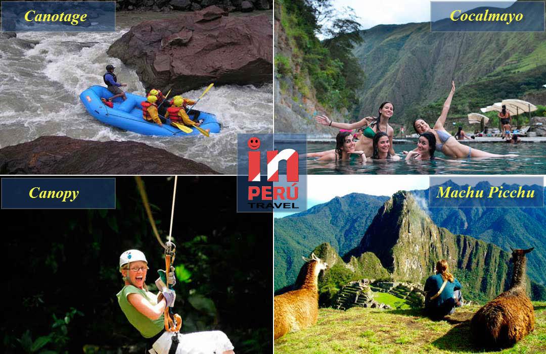 Canotage - Cocalmayo -Canopy - Machu Picchu